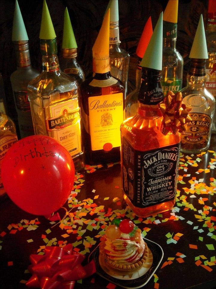 Виски открытка день рождения
